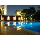 iluminação de piscina em led valor Jardins