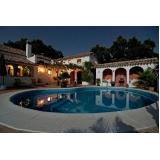 iluminação borda piscina