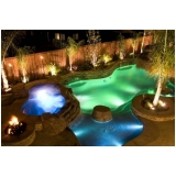 iluminação piscina externa valor Jardim Bonfiglioli
