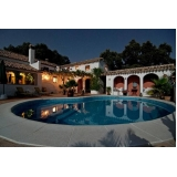 preço de iluminação piscina externa Jardins