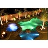 projeto de iluminação em piscina Pedreira